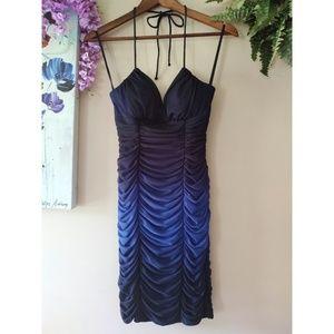 Blondie Nites Blue Ombre Dress Size 1
